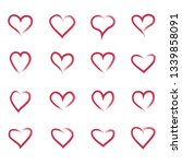 heart hand drawn icons set... | Shutterstock .eps vector #1339858091