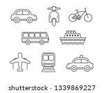 set of transportation icon line ... | Shutterstock .eps vector #1339869227