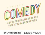 condensed colorful display font ... | Shutterstock .eps vector #1339874207