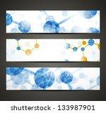 eps10  dna banner   Shutterstock .eps vector #133987901