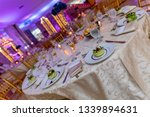 wedding banquet table setting...   Shutterstock . vector #1339894631