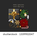 christmas background with...   Shutterstock . vector #1339902047
