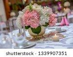 wedding banquet table setting...   Shutterstock . vector #1339907351