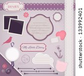 scrapbooking set  my little... | Shutterstock .eps vector #133992401