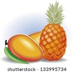 illustration of mango and... | Shutterstock . vector #133995734