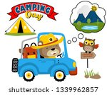 funny scout cartoon  driving... | Shutterstock .eps vector #1339962857