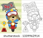 coloring book or page with... | Shutterstock .eps vector #1339962914