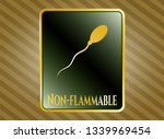 gold emblem or badge with... | Shutterstock .eps vector #1339969454
