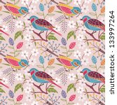 seamless floral pattern with... | Shutterstock .eps vector #133997264