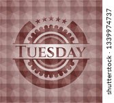 tuesday red seamless emblem... | Shutterstock .eps vector #1339974737