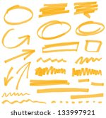 vector highlighter elements vol ... | Shutterstock .eps vector #133997921
