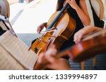 String Quartet Close Up Playin...