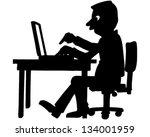 computer | Shutterstock .eps vector #134001959