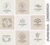 feminine premade logo bundle... | Shutterstock .eps vector #1340034524