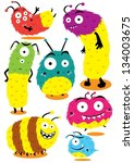 fur monsters | Shutterstock .eps vector #134003675