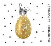 happy easter greeting card with ... | Shutterstock .eps vector #1340048177