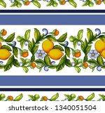 mediterranean seamless pattern...   Shutterstock .eps vector #1340051504