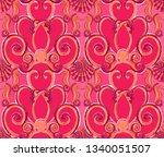 sea seamless pattern of octopus ... | Shutterstock . vector #1340051507