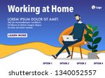 working at home concept website ...