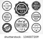 collection of water badges and... | Shutterstock .eps vector #134007209