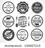 meat and beef badges and labels ... | Shutterstock .eps vector #134007215