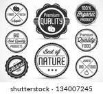 apple label and sticker... | Shutterstock .eps vector #134007245