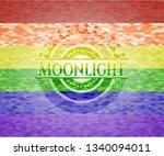 moonlight emblem on mosaic... | Shutterstock .eps vector #1340094011