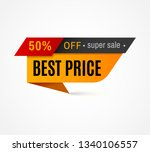 price label. special offer sale ... | Shutterstock . vector #1340106557