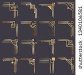 art deco corner. modern graphic ... | Shutterstock . vector #1340106581