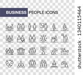 business people icons set... | Shutterstock . vector #1340115464
