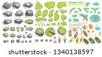 set of elements for the tourist ... | Shutterstock .eps vector #1340138597