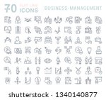 set of line icons of business... | Shutterstock . vector #1340140877