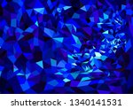 vector mosaic in deep blue... | Shutterstock .eps vector #1340141531