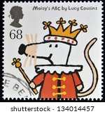 Small photo of UNITED KINGDOM - CIRCA 2006: A stamp printed in Great Britain dedicated to animal tales, shows Maisey's ABC by Lucy Cousins, circa 2006