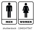 men washroom icon and women...   Shutterstock .eps vector #1340147567