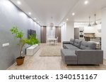 clean apartment with green tree ... | Shutterstock . vector #1340151167