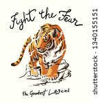 fight the fear slogan with... | Shutterstock .eps vector #1340155151