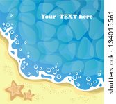 background   the seashore ... | Shutterstock .eps vector #134015561