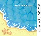 background   the seashore ... | Shutterstock .eps vector #134015561