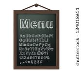 cafe menu board with chalk... | Shutterstock .eps vector #134018651