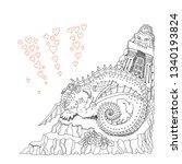 vector humorous cartoon fairy...   Shutterstock .eps vector #1340193824
