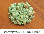 turquoise stones on a... | Shutterstock . vector #1340214464
