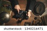 1950s style noir detective... | Shutterstock . vector #1340216471