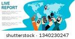 journalism concept vector... | Shutterstock .eps vector #1340230247