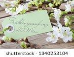 german beginning of spring... | Shutterstock . vector #1340253104