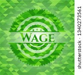 wage realistic green mosaic... | Shutterstock .eps vector #1340273561
