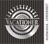 vacationer silver shiny emblem | Shutterstock .eps vector #1340283827