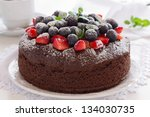 Chocolate Cake With Summer...