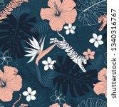 vector seamless tropical... | Shutterstock .eps vector #1340316767
