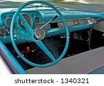Inside Of Old  Blue Chevolet